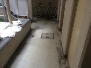 共用廊下の長尺シート工事