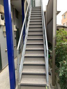共用廊下階段防水シート工事